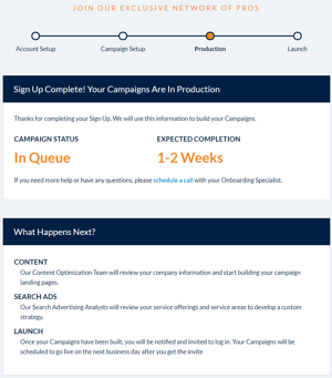 Select Signup - Step 3 - Campaign Production - KB