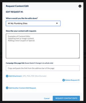 Request Content Edit
